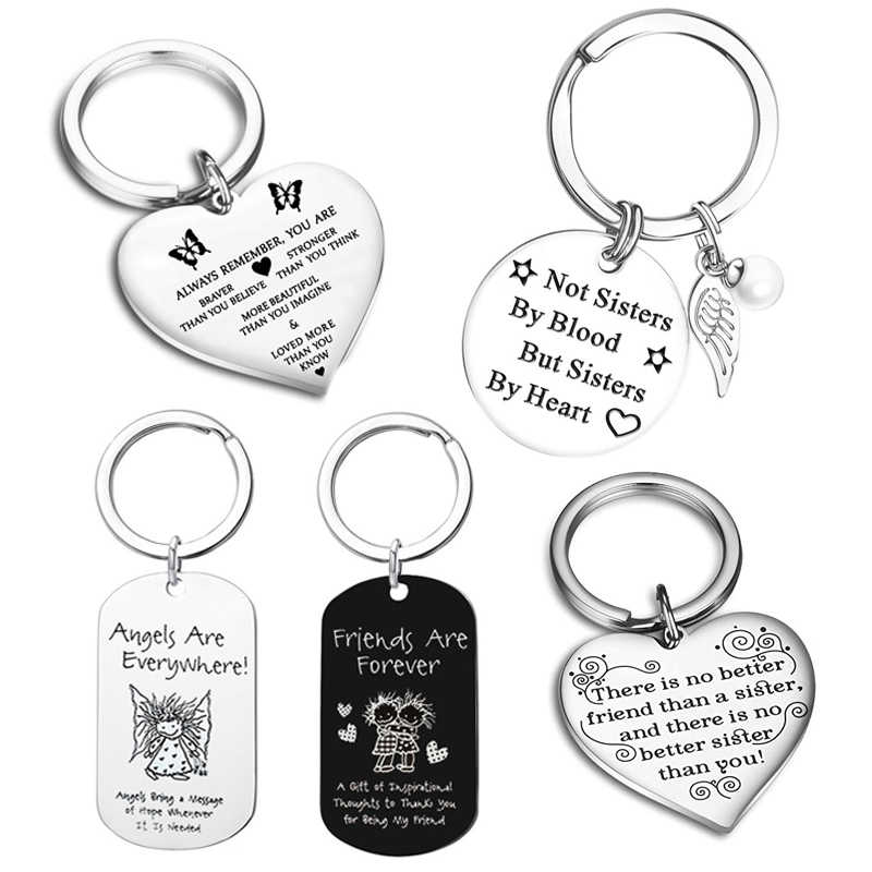 Best Friend Keychain Sister Keyring Gift Friendship Gifts for Women Teens Sister