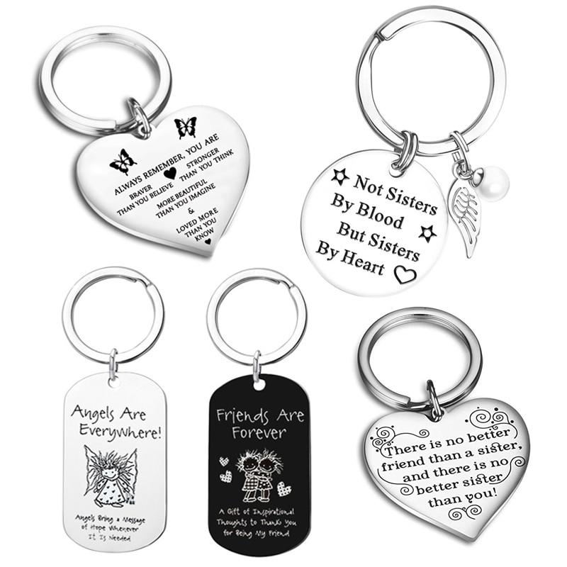 Брелок для ключей женский «не сестры крови, а сестры сердца»