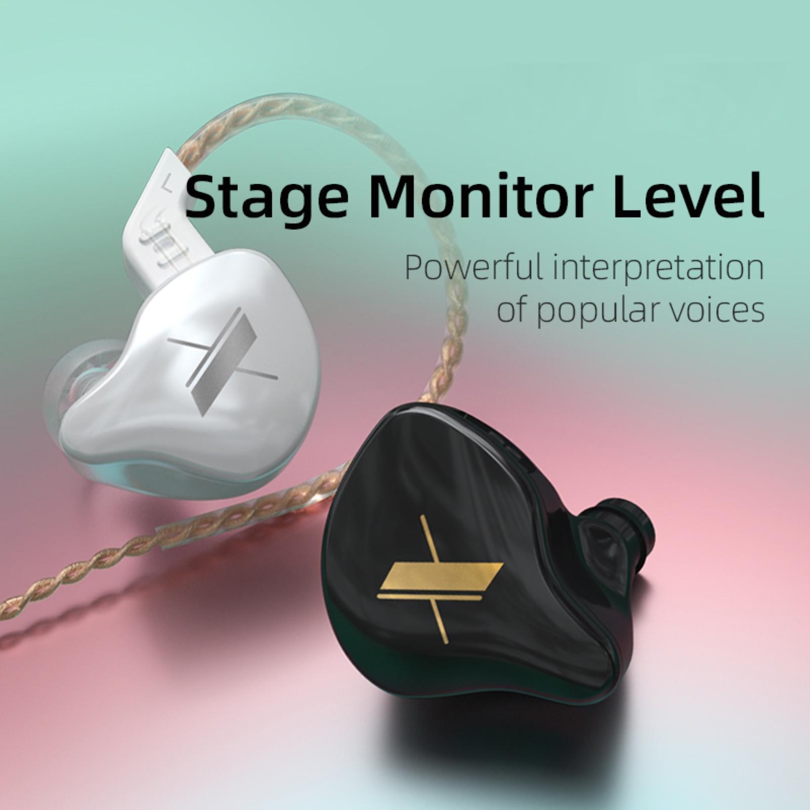 Kz edx com fio dinâmico de alta fidelidade graves pesados in-ear gaming fone de ouvido com microfone 23accessories wired fone de ouvido acessórios do telefone