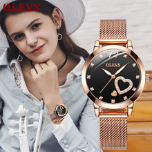 OLEVS Fashion Women Watches with Mesh Bracelet Top Brand Cas