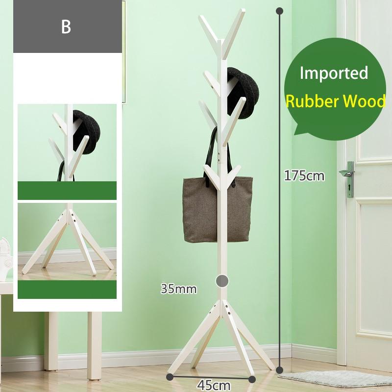 Image 3 - Solid Wood Hanger Floor Standing Coat Rack Creative Home Furniture Clothes Hanging Storage Rack Wood Hanger Bedroom Drying RackCoat Racks   - AliExpress