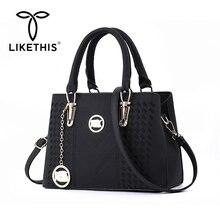 LIKETHIS Luxury Women Handbag Crossbody Bags 2020 Messenger Bag Black Hand Bags Tote Borsa Donna Bolso Mujer Сумка Через Плечо