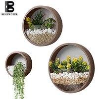 Креативная стенная ваза Железный художественный подвесной цветочный горшок растение суккулент настенная плантатор домашняя гостиная бон...