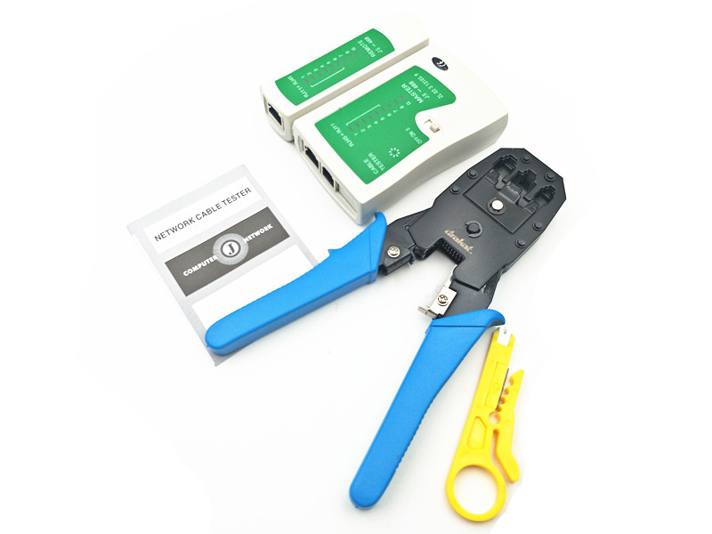 RJ45 RJ11 RJ12 CAT5 LAN Network Tool Kit Cable Tester Crimp Crimper Plier Cutter