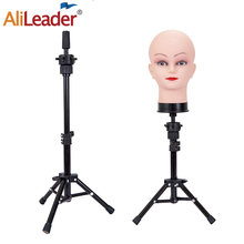 Alileader New 60Cm Mini Mannequin Head Tripod With Bald Mannequin Head For Wigs With Stand Adjustable Wig Stand With Head Tripod