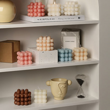 Nordic Style Scented Candle Rubik's Cube Shape Home Decoration Small Ornaments Bedroom Fragrance Candles Aromatherapy