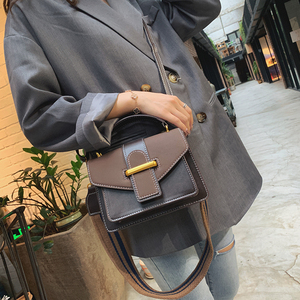 Image 3 - New Women Crossbody Bag PU Leather Waterproof Simple Female Shoulder Bag Youth Lady Work Bag Contrast Color With Interval