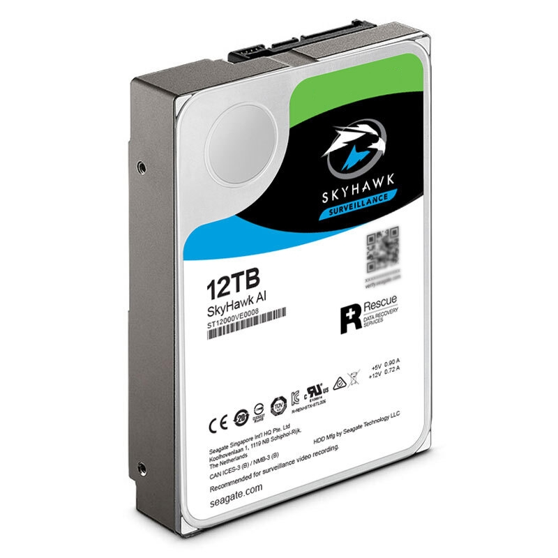 """New HDD For Seagate 12TB 3.5"""" SATA 6 Gb/s 256MB 7200RPM For Internal HDD For Surveillance HDD For ST12000VE0008 2"""