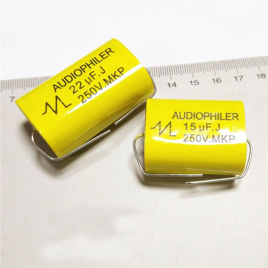 2pcs 6.8uF-47uF 250V Car Audio Speaker Frequency Divider Crossover Polypropylene Film Non-Polarity Capacitor