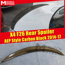 For BMW F26 X4 Trunk Spoiler Carbon Fiber AEP Style Gloss Black Rear X-series Tail Wings 2014-2017