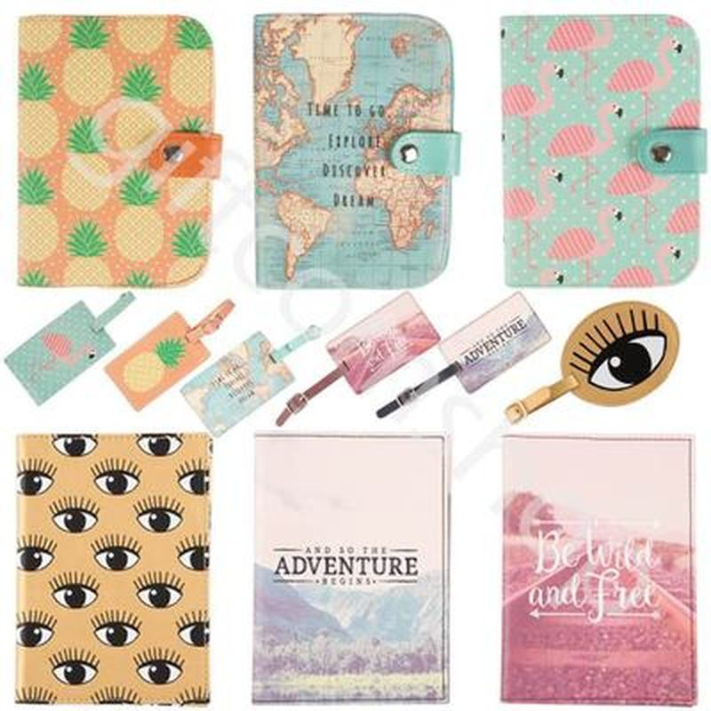 2019 Map Passport Covers Luggage Tag Travel Accessories Creative PU Leather ID Bank Card BagBusiness Holder