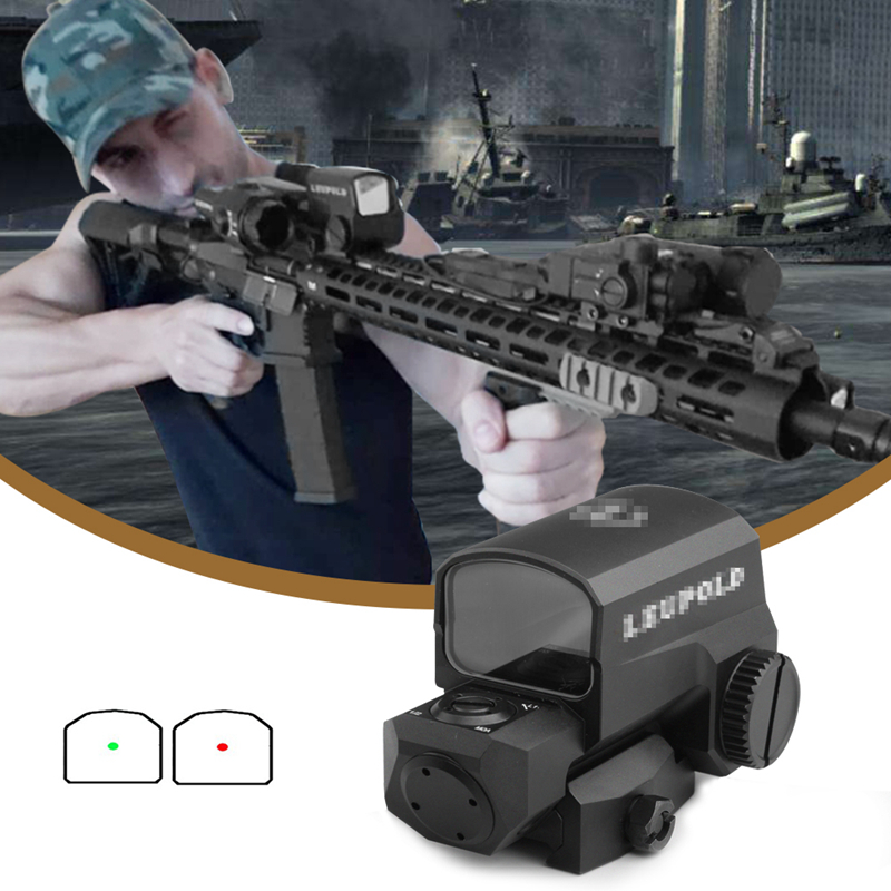 LCO Red Dot Sight Collimator Scope Tactical Riflescope Fits Any 20mm Rail Mount Hunting Scopes Optical Reflex Sight RL5-0038