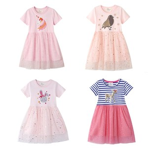 Girl's lovely animal embroidery dress in summer children's fashion princess dress girl's dress party casual dress