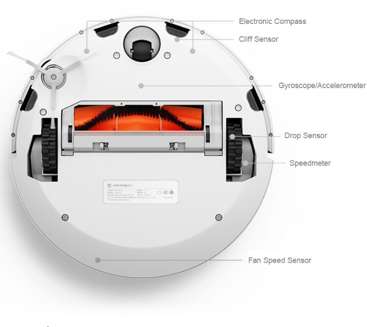 Original Xiao mi mi 1S para Casa Automático Varrendo Robô Aspirador de pó Carga Inteligente Planejado WIFI APP Controle Remoto aspirador de pó - 4