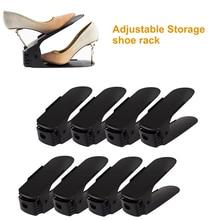 2/4/6/8/10 шт. Регулируемый органайзер для обуви Современная двойная полка для обуви для хранения Space Saver обувь органайзеры стенд полка для гостиной zapatero organizador de zapatos подставка для обуви хранение обув