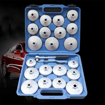 23 piece bowl machine batch oil wrench set aluminum alloy cap filter disassembly tool hand removal sleeve