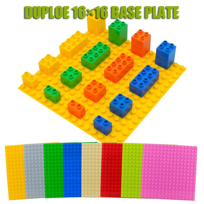 Базовая пластина Duploe для больших кирпичей, 16*16 точек, 25,5*25,5 см