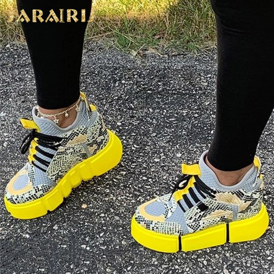 Sarairis In Stock For Dropship Fashion INS Hot Sale 2020 Lace Up Height Increased Sneakers Woman Vulcanize Shoes