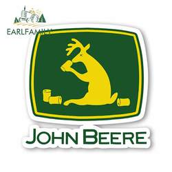 EARLFAMILY 13cm x 5.6cm Vinyl Stickers for JOHN BEERE Farm Tractor Gator Farming AUTO MOTO Car Tuning Side Stickers Funny Decal