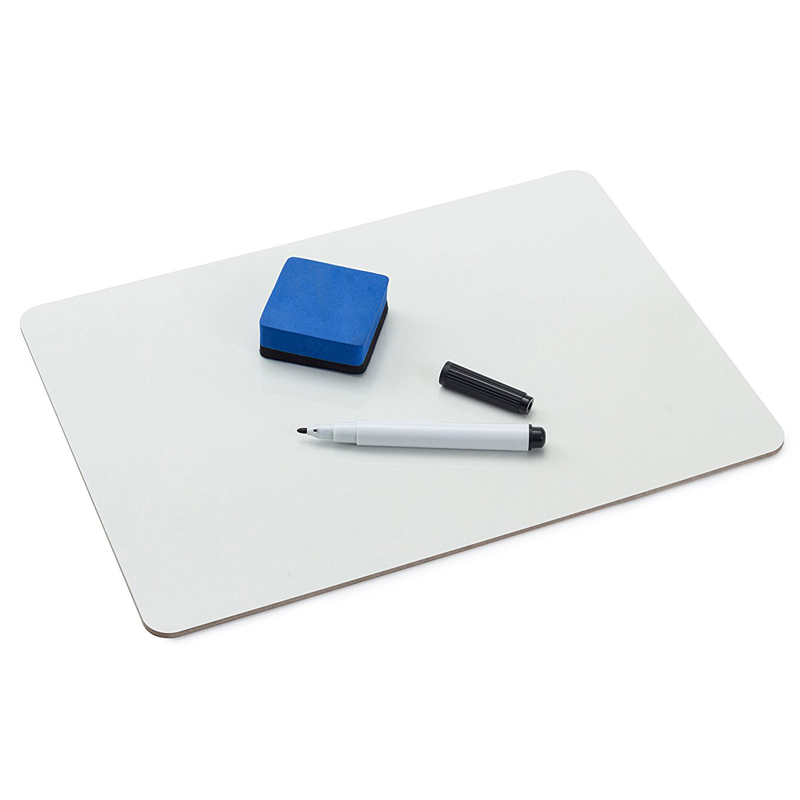 Dry Erase Lap Boards Set Double Sided Small Whiteboard With 1 White Board 9*12 Inch, 1 Marker, 1 Eraser For Teachers, Students