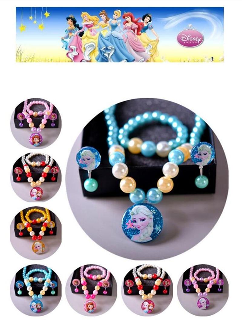 Disney Frozen Necklace Bracelet Hair Band Hair Clips Princess Gift Accessories