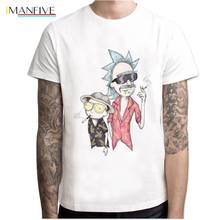 pickle rick t-shirt mens Rick and morty New Anime funny Summer T Shirt Cool Tshirts Tops Tees Homme