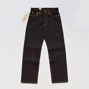 Image 1 - BOB DONG Schwarz Schwergewicht Selvage Denim 23 unzen Jeans Für Männer Regelmäßige Gerade Fit