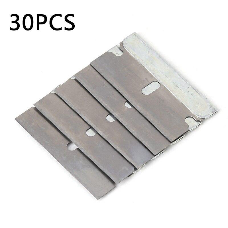 2020 Wholesale 5/30PStainless Steel Blades Ceramic Window Scraper Remove Stickers40MM Universal
