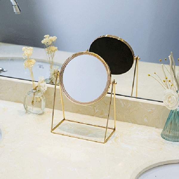 Metal Decorative Mirror Lady Desktop Makeup Mirror Crafts Three-Dimensional Princess Mirror Home Decor Accessories 5