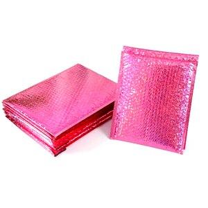 50pcs laser pink bubble bag po