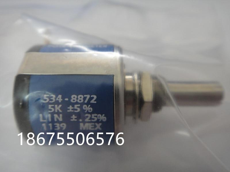 [VK] SPECTROL 534-8872 5K importé potentiomètre multi-tours 2 watts commutateur
