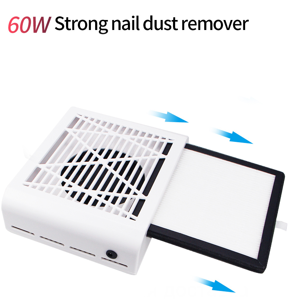 60/80W Powerful Nail Dust Suction Fan Art Collector Vacuum Cleaner Equipment Salon