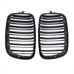 Image 2 - Samger زوج X5 X6 لمعان أسود مزدوج شريحة الكلى مصبغة الجبهة الوفير شواء لسيارات BMW X5 E70 X6 E71