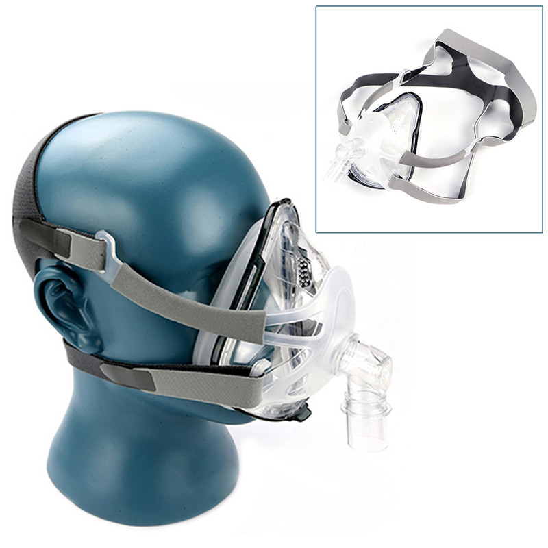 F1A Full Face CPAP Mask with Adjustable Headgear for Comfortable Respirator and Snoring Therapy