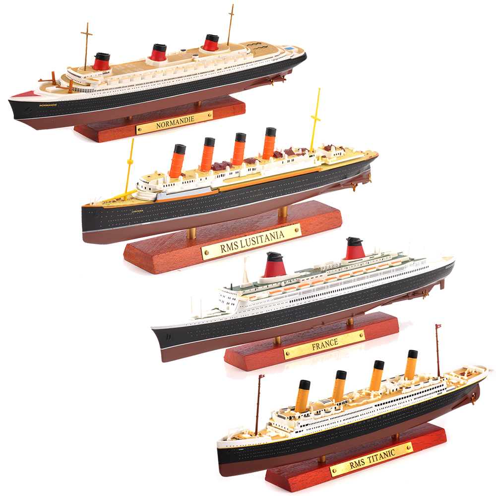 1/1250 Scale Diecast France&Normandie&RMS Lusitania&RMS TITANNIC Steamship Cruise Ship Model Collection Kid Toys Gift