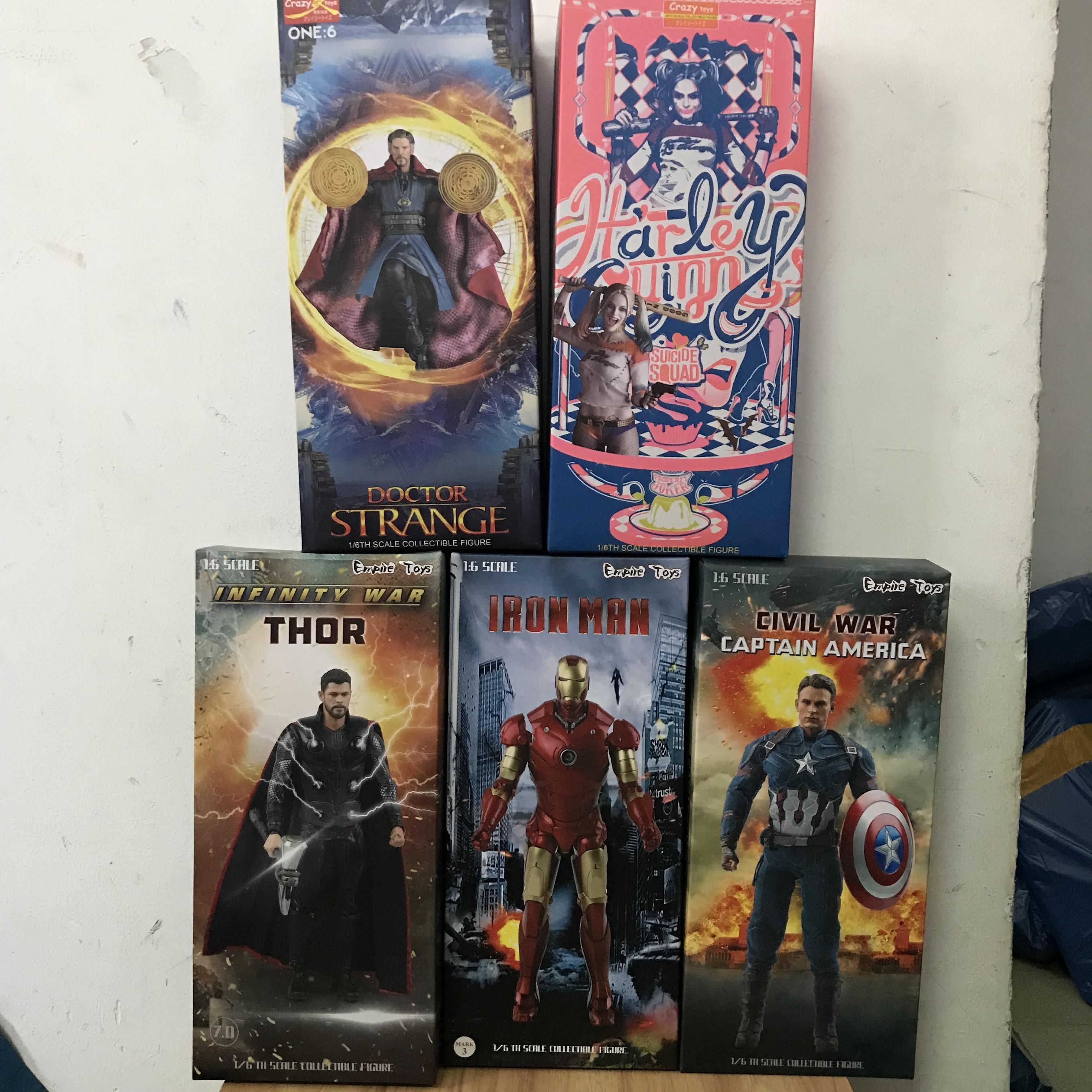30cm HOTAvengers Thor Ironman Spiderman Captain America DOCTOR STRANGE Suicide Squad 1/6 échelle à collectionner figurine jouet poupée
