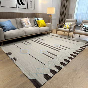 Large Carpet Bedroom Bedside Sofa Nordic Minimalist Coffee Table Geometric Home Living Room Mat