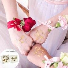 Kombiniert Verkauf (10 + 1) stücke Hochzeit Geschenk Team Braut Zu Werden Bachelorette Braut Partei Tattoo Aufkleber Dekoration Mariage Braut Dusche