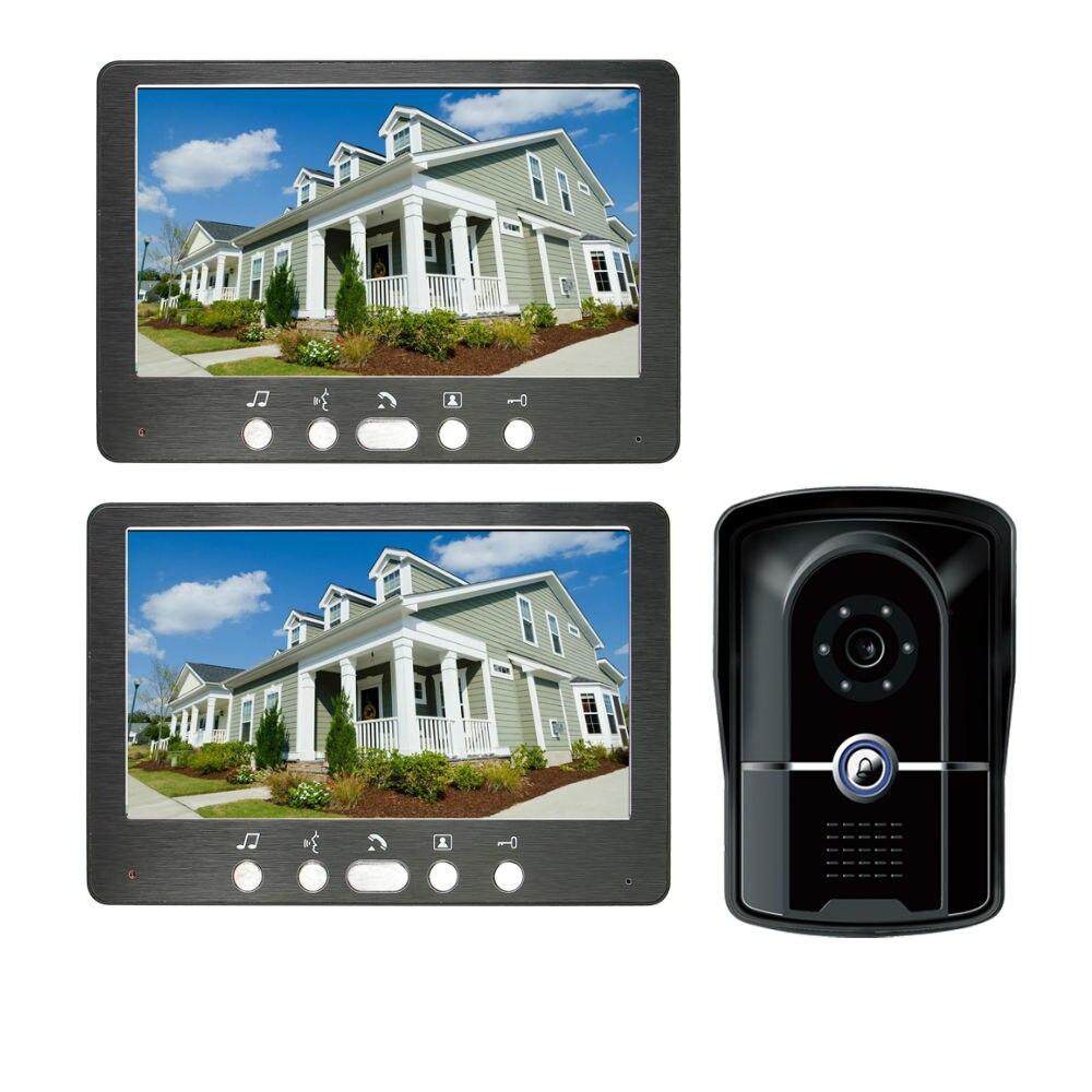 7-inch Video Door Phone LCD Screen Monitor Viewer Door Bell Video Intercom Monitor Kit IR Night Vision Camera Door Bell