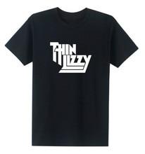 Heavy Metal Rock Band Thin Lizzy T Shirt Men Tops Music Pop Men T-shirt Short Sleeve Cotton O-neck Tee Tops цена и фото