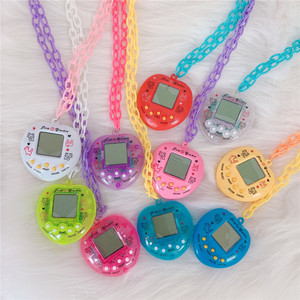Electronic Pet Game Console Pendant Necklace For Women Men Colorful Vintage Funny Toy Choker Necklace Harajuku Trendy Jewelry