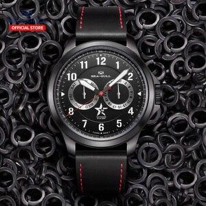 Image 5 - Seagull mens watch fashion luminous brand new multifunctional 100 meters waterproof automatic mechanical mens watch R1927
