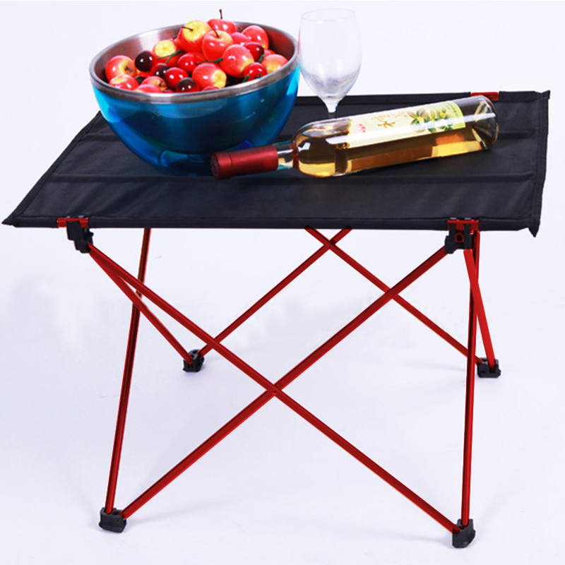 Folding Camping Table Outdoor Furniture Portable Hiking Foldable Picnic Tables Aluminium Alloy Ultra Light Outdoor Folding Table