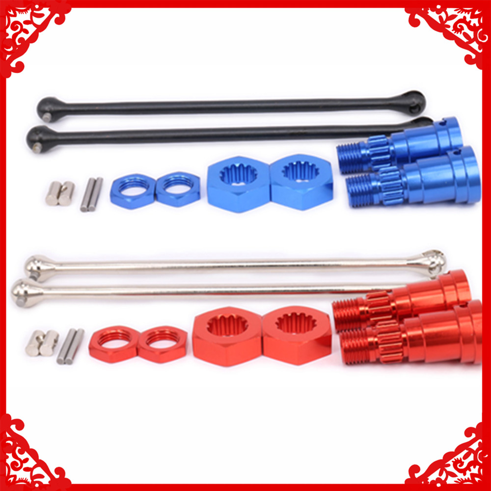 Front rear universal drive shaft with stub axle/hub hex and nut for <font><b>rc</b></font> hobby <font><b>car</b></font> 1/5 1/6 Traxxas <font><b>X</b></font>-<font><b>MAXX</b></font> 7750 7753 upgraded parts image