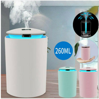 260Ml Mini Air Humidifier USB Bottle Aroma Diffuser Water Mist Diffuser LED Backlight For Office Home Humidification Gift dmwd mini humidifier office household air diffuser absorbent filter sticks portable abs water bottle cap aroma mist maker