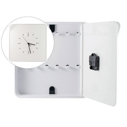 WARDROBE PLASTIC Portallaves PAPERFLOW WITH WATCH FOR 12 WHITE KEYS 320X60X320 MM