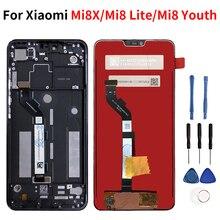 Xiaomi mi8x/mi8 lite/mi8 youth 터치 스크린 디지타이저 어셈블리 부품 xiaomi mi8x/mi8 lite/mi8 youth 용 lcd 디스플레이
