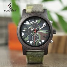 reloj hombre BOBO BIRD Promotion Wood Watch Casual Wristwatc