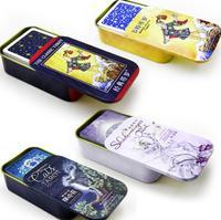 Caja de Metal portátil de alta calidad, juego de mesa de Tarot en caja, juego de cartas de juego de mesa de Tarot, juegos de mesa familiares