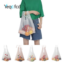 Yeqofcd Crossbody Bags Women Shoulder Bag Organza Tote Transparent Screen Yarn Handbag Girl Strawberry Flower Embroidery Package